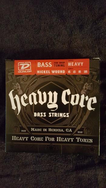 dunlop dbhcn45 nickel wound heavy core electric bass strings 045 gauge reverb. Black Bedroom Furniture Sets. Home Design Ideas