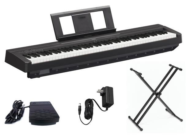 Yamaha p45b digital piano with double x keyboard stand for Yamaha p45b keyboard
