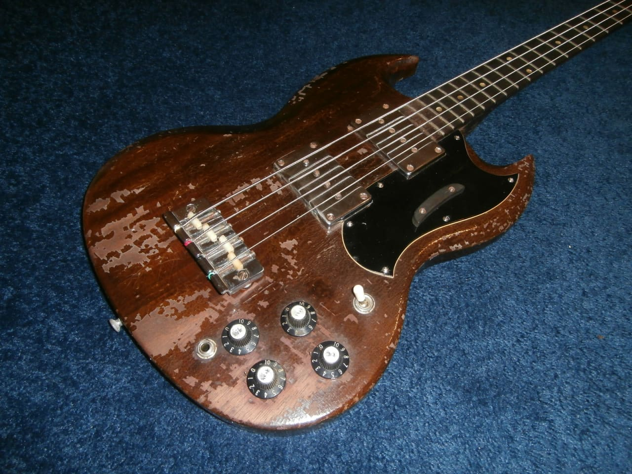 vintage 1968 gibson eb 0 two pickup electric bass guitar reverb. Black Bedroom Furniture Sets. Home Design Ideas