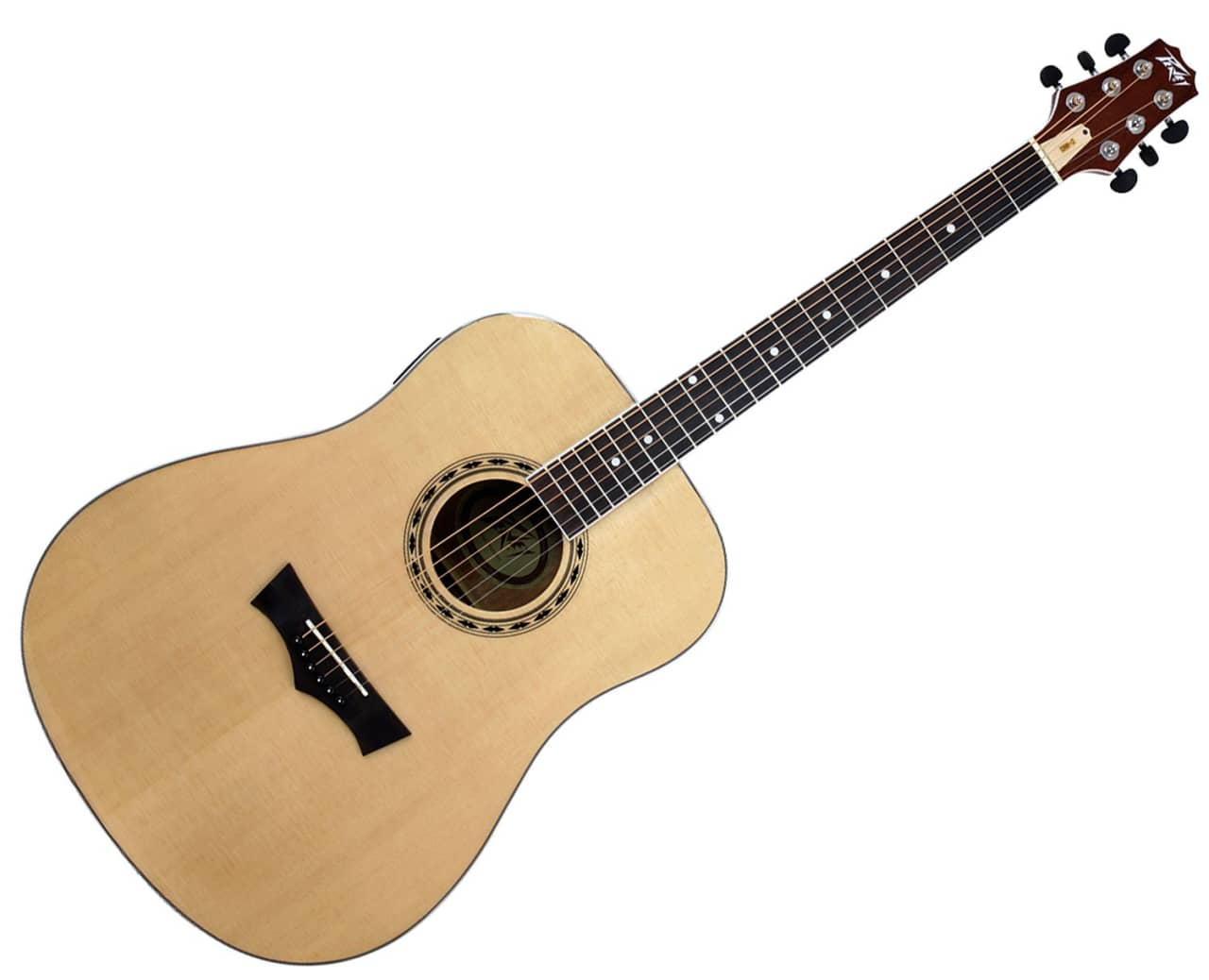 peavey dw 2 dreadnought acoustic electric guitar w built in reverb. Black Bedroom Furniture Sets. Home Design Ideas