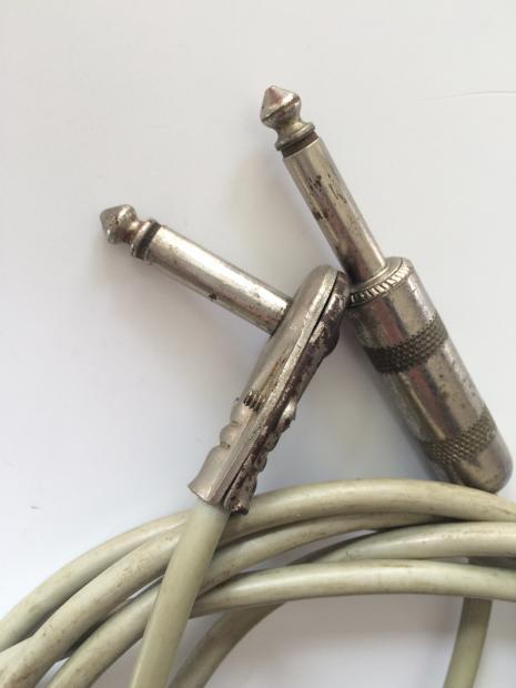 Vintage Fender Cord Grip Guitar Patch Cable 1950s Case