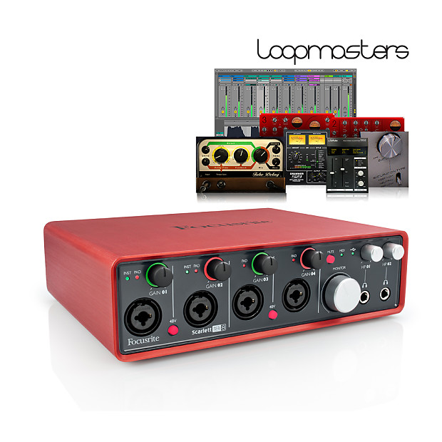 how to connect rca to focusrite scarlett 18i8