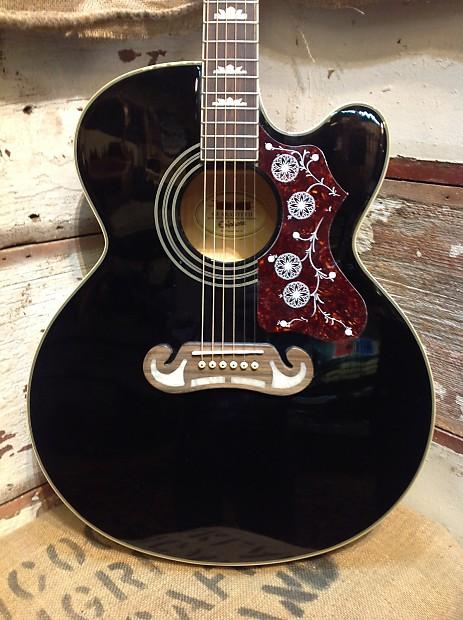 epiphone ej 200ce black jumbo acoustic electric guitar reverb. Black Bedroom Furniture Sets. Home Design Ideas