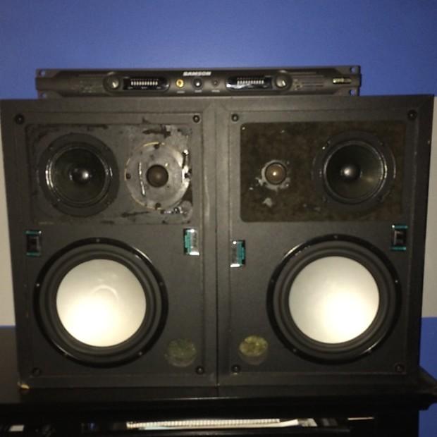 2 Peavey PRM 308S USA Made Professional Studio Monitors