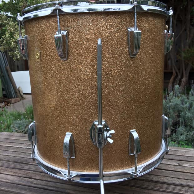 Ludwig floor tom 16x16 champagne sparkle 1967 reverb for 16 x 16 floor tom