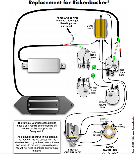 920d custom shop wiring harness for rickenbacker 4000 series reverb