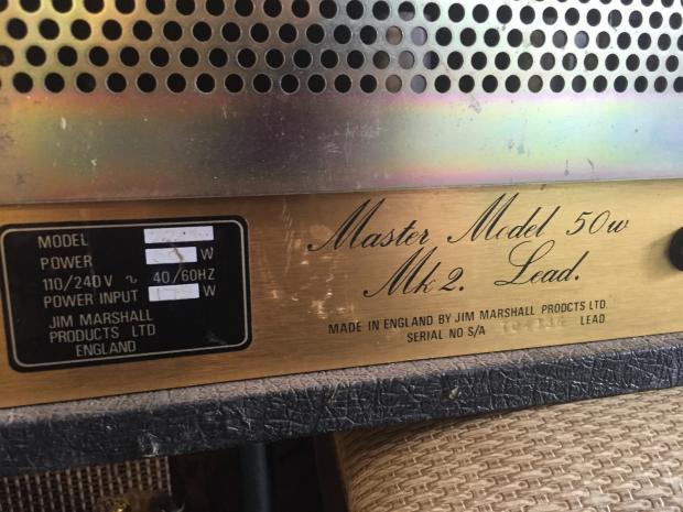 Marshall jcm 800 serial number dating