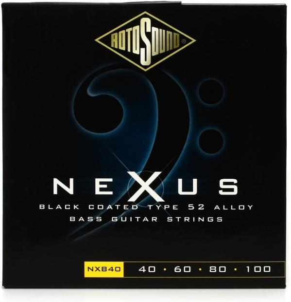 rotosound nxb40 nexus bass black polymer coated long scale bass strings reverb. Black Bedroom Furniture Sets. Home Design Ideas
