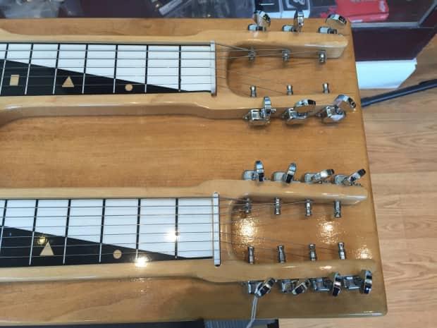 vintage joe morrell pro series double neck lap steel guitar 6 reverb. Black Bedroom Furniture Sets. Home Design Ideas