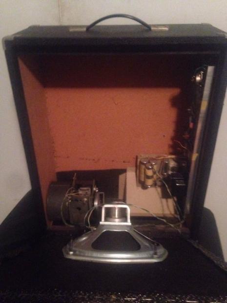 rare tel ray guitar rotating 15 amplifier amp ad n echo reverb. Black Bedroom Furniture Sets. Home Design Ideas