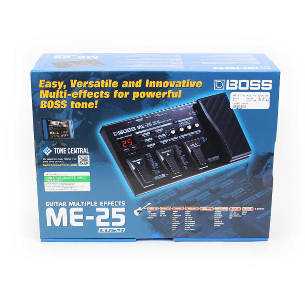 boss me 25 guitar multi effects pedal processor reverb. Black Bedroom Furniture Sets. Home Design Ideas