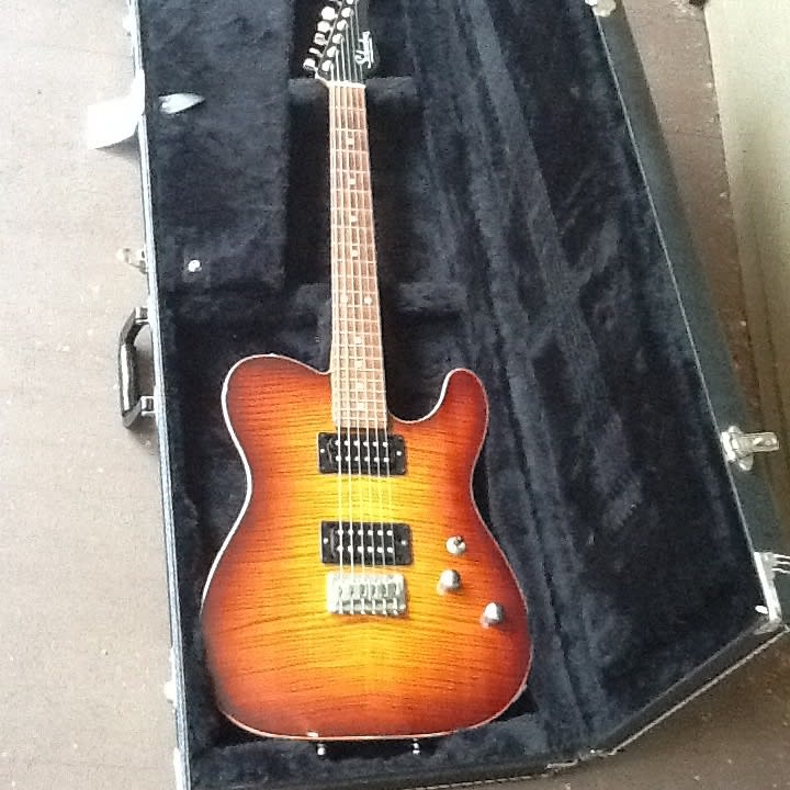 Schecter USA PT Custom , Flamed Top ,Chambered body , Coil tap