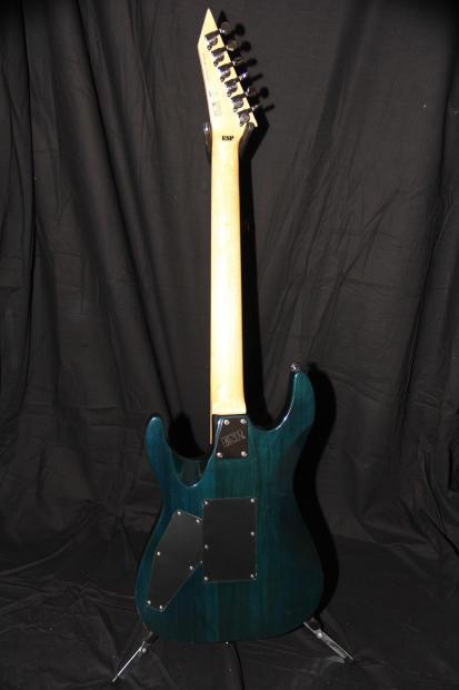 -ESP LTD MH 103QM- Blue quilt top guitar with gigbag | Reverb