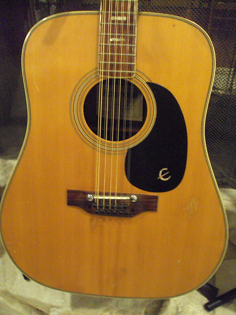 vintage epiphone gibson texan 1960s early 70 39 s 12 string reverb. Black Bedroom Furniture Sets. Home Design Ideas
