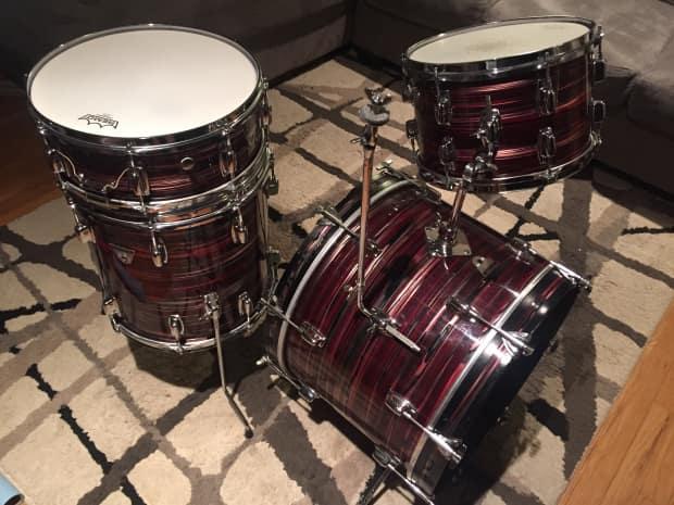 ludwig standard 1968 ruby red strata drum set reverb. Black Bedroom Furniture Sets. Home Design Ideas
