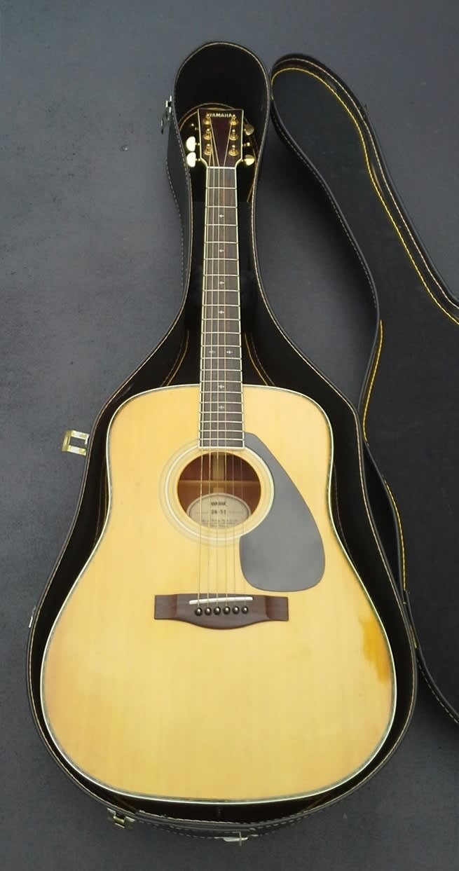 Rare vintage yamaha dw 5s solid sitka spruce acoustic for Where are yamaha guitars made