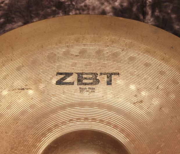 zildjian zbt 20 inch rock ride cymbal used reverb. Black Bedroom Furniture Sets. Home Design Ideas