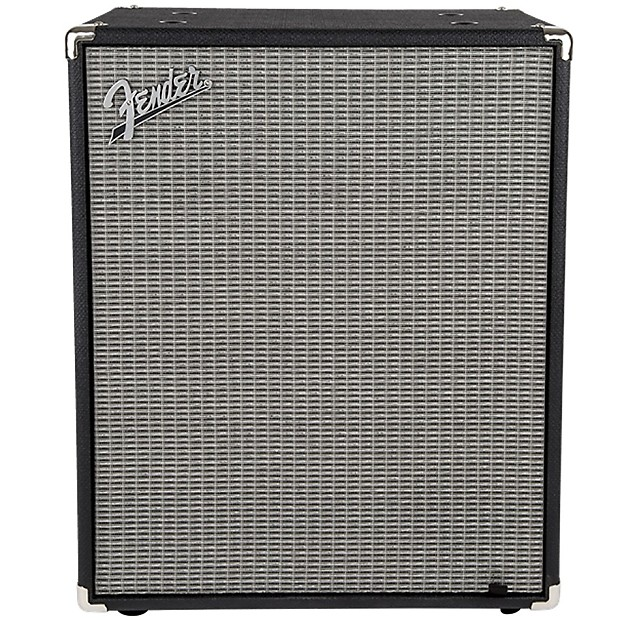 Fender Rumble 210 2x10 Bass Cabinet V3 Black Silver Reverb