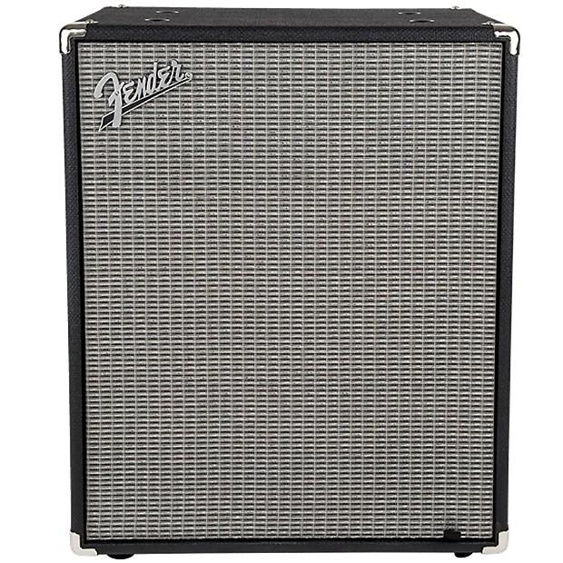 Fender Rumble 210 2x10 Bass Cabinet V3 Black Silver Reverb
