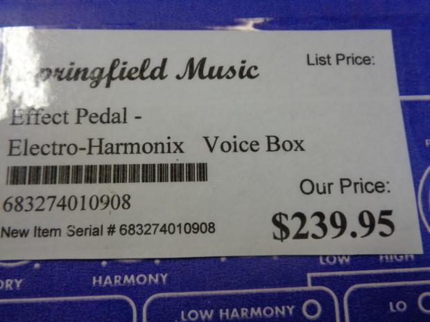 electro harmonix voice box harmony machine and vocoder guitar effect pedal reverb. Black Bedroom Furniture Sets. Home Design Ideas