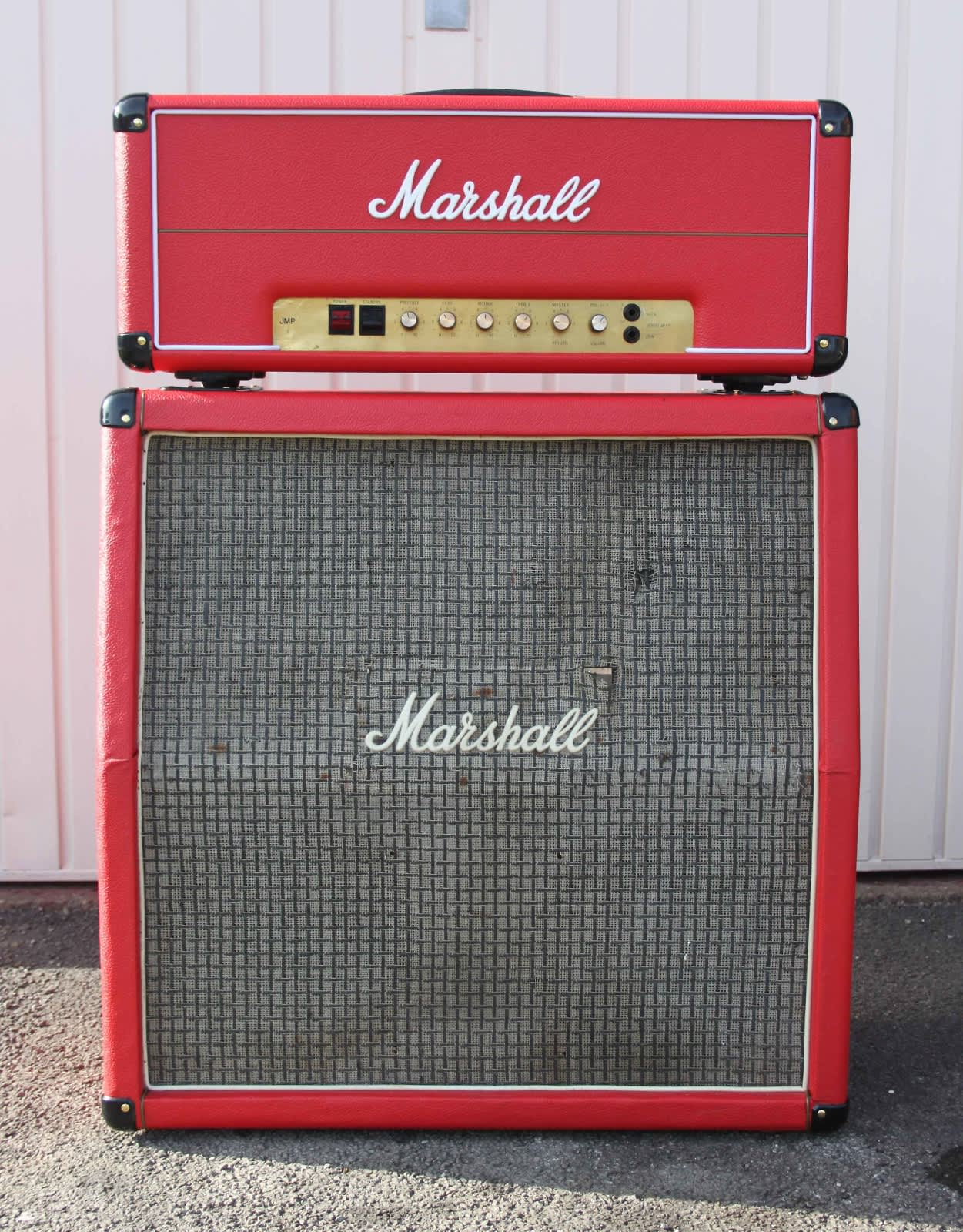 vintage 1977 marshall master model 100w lead jmp red amp w reverb. Black Bedroom Furniture Sets. Home Design Ideas