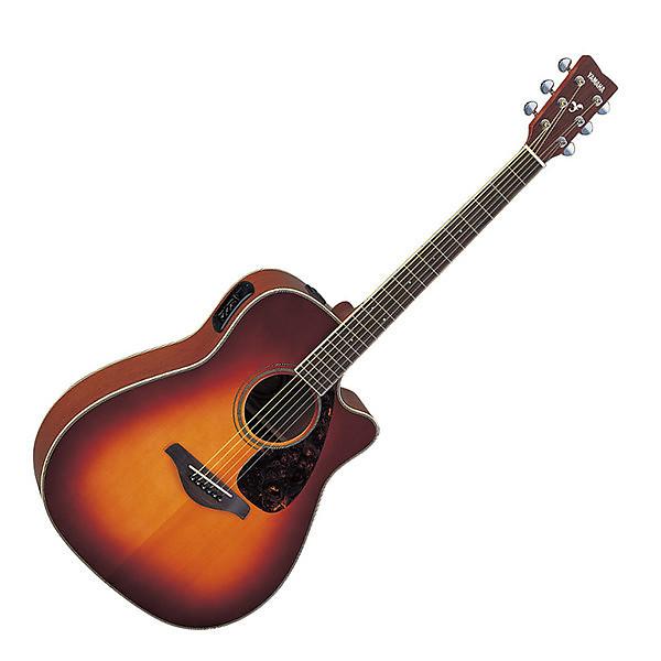 yamaha fgx720sca acoustic electric guitar brown sunburst