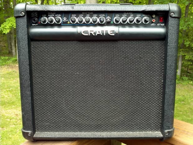 crate gt65 65 watt 1x12 guitar amp black reverb. Black Bedroom Furniture Sets. Home Design Ideas