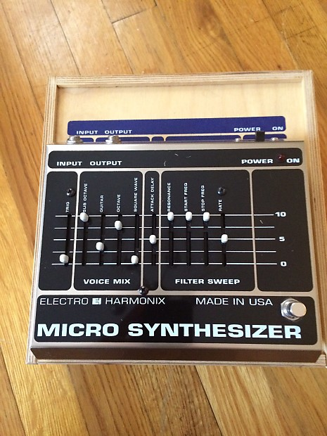 electro harmonix micro synthesizer w wooden box reverb. Black Bedroom Furniture Sets. Home Design Ideas