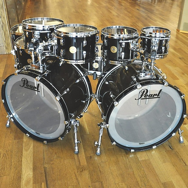 pearl reference custom smoke acrylic 9pc drum kit reverb. Black Bedroom Furniture Sets. Home Design Ideas
