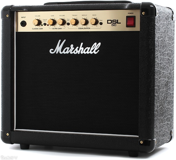 marshall dsl5c 5 watt valve tube guitar combo amplifier reverb. Black Bedroom Furniture Sets. Home Design Ideas