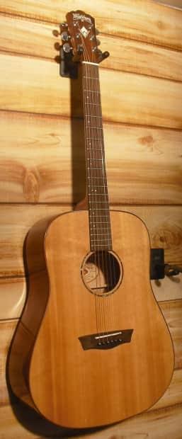 Mahogany Wood Guitar ~ Washburn wd sw dreadnought acoustic guitar all solid