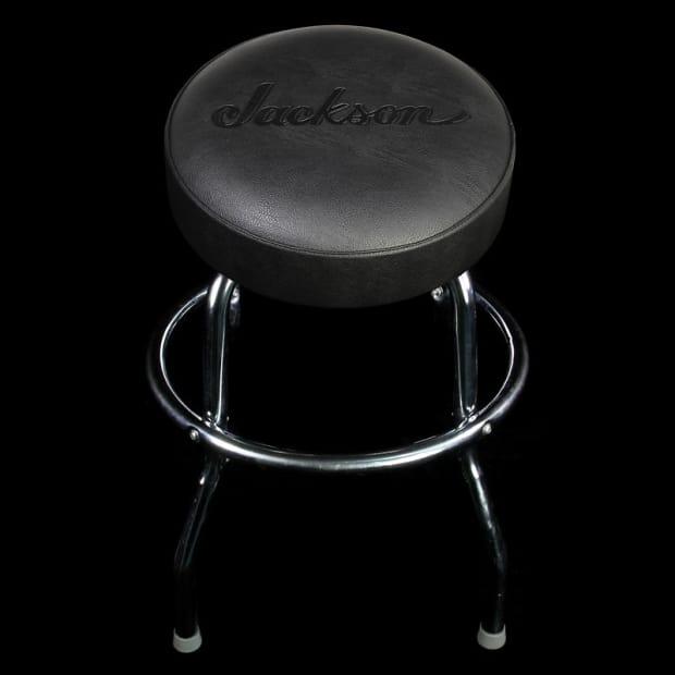 Jackson 24 Inch Black Logo Stool Reverb