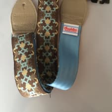 Souldier Blue and Brown Guitar Strap image