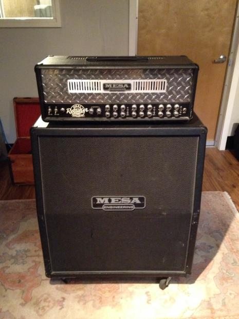 mesa boogie dual rectifier solo head and cab 2001 black chrome with roadcase reverb. Black Bedroom Furniture Sets. Home Design Ideas