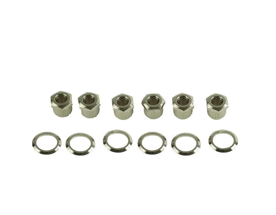 Kluson hex head tuner adapter bushings w washers nickel