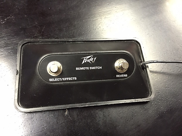 peavey two button footswitch reverb. Black Bedroom Furniture Sets. Home Design Ideas