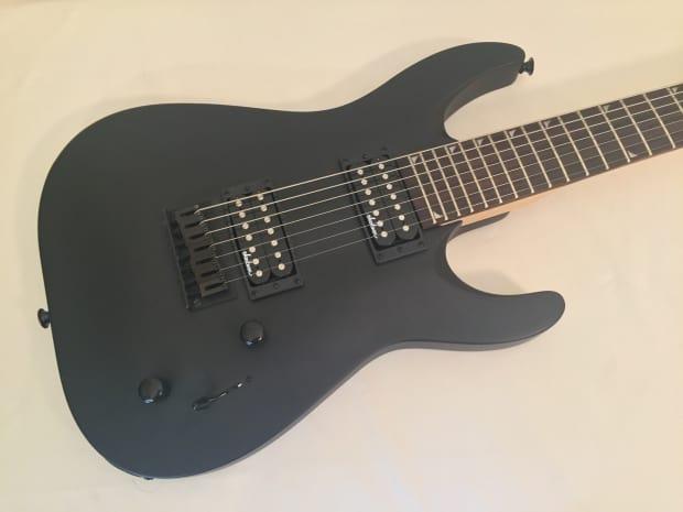 jackson js22 7 dinky 7 string electric guitar satin black reverb. Black Bedroom Furniture Sets. Home Design Ideas