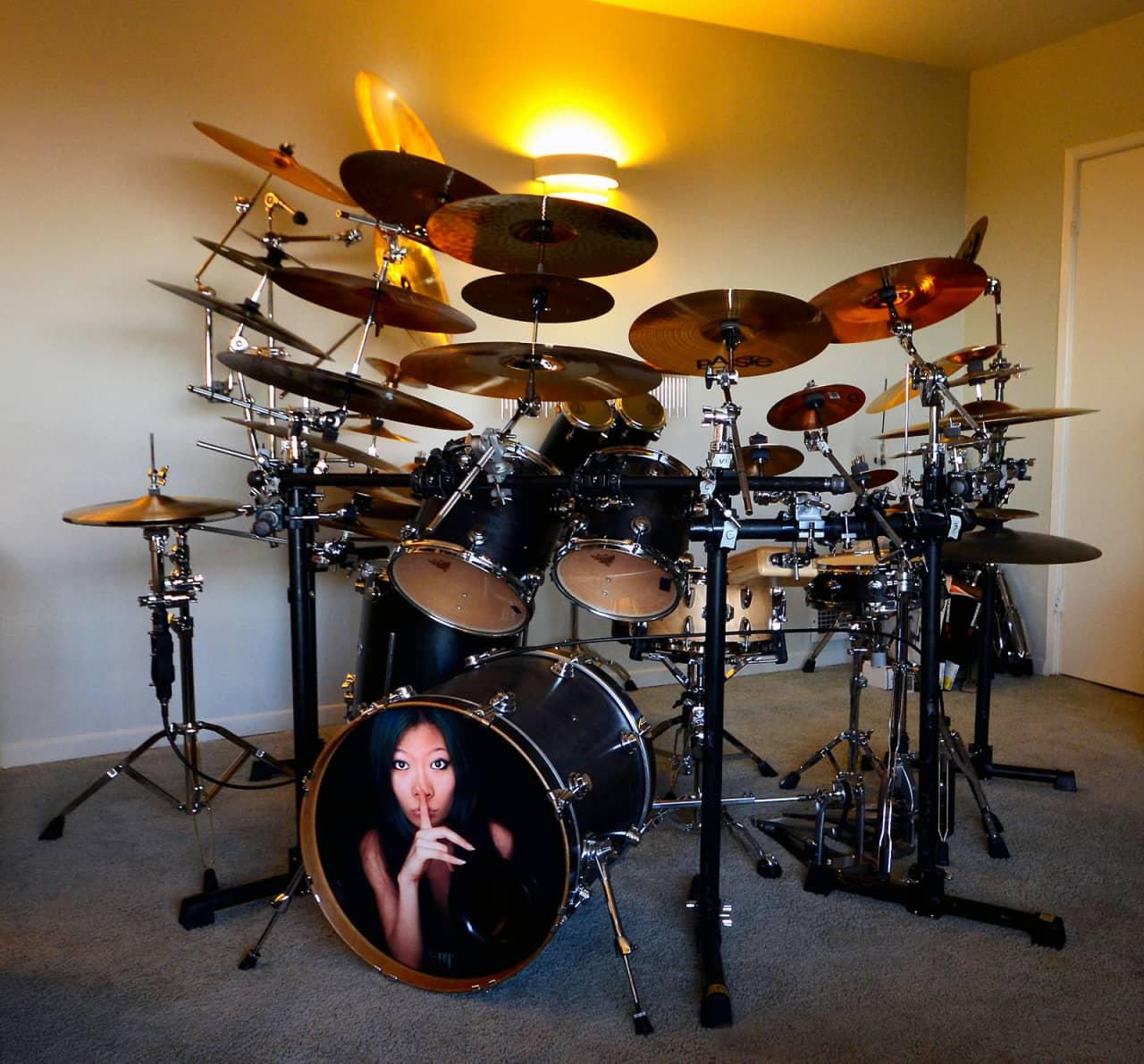 reduced dw maple drum set from godsmack tour reverb. Black Bedroom Furniture Sets. Home Design Ideas