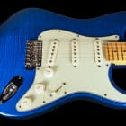 2014 Fender Stratocaster Custom Shop Custom Deluxe Strat AA Flame Top ~ Candy Blue image