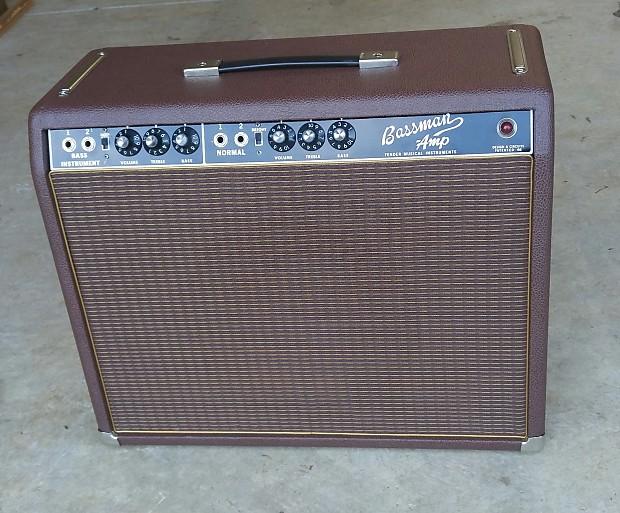 fender bassman 1967 made into a 1 12 combo amp w weber reverb. Black Bedroom Furniture Sets. Home Design Ideas