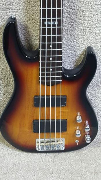 esp ltd surveyor 415 bass guitar 5 string 3 tone sunburst reverb. Black Bedroom Furniture Sets. Home Design Ideas