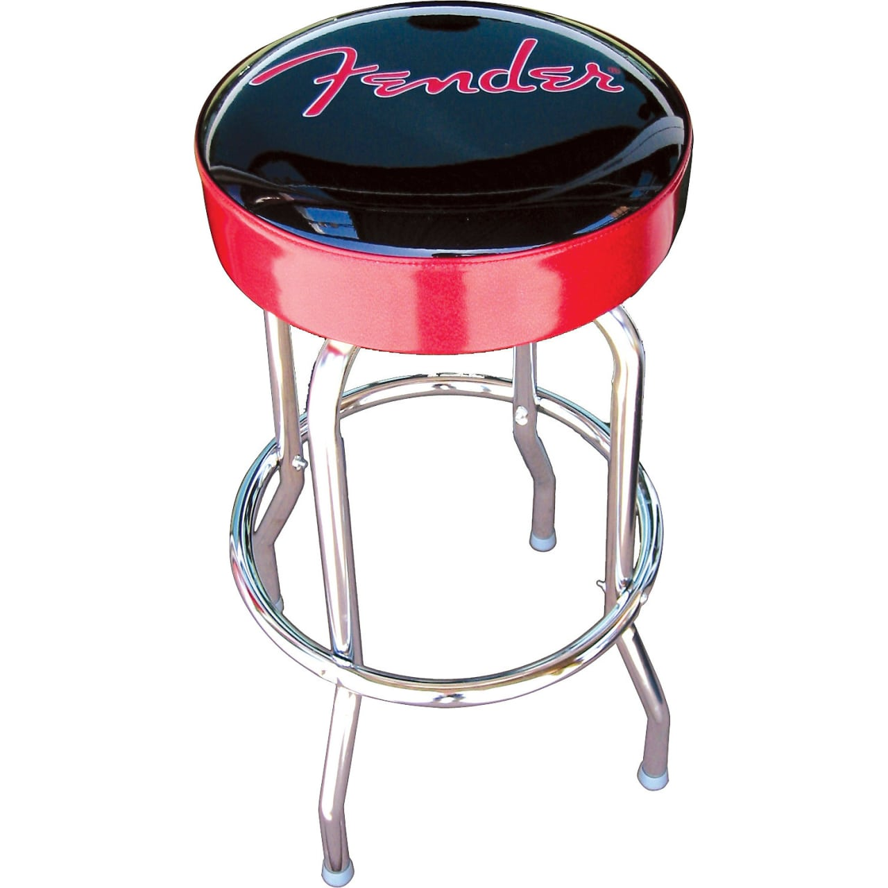 Fender 24 Inch Black And Red Bar Stool Reverb