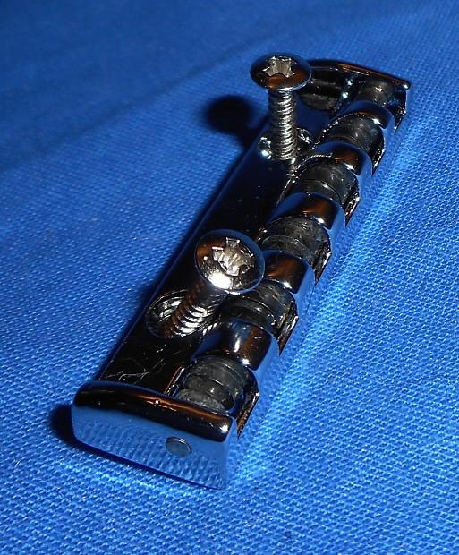 new chrome electric guitar roller nut with screws nut size 1 reverb. Black Bedroom Furniture Sets. Home Design Ideas