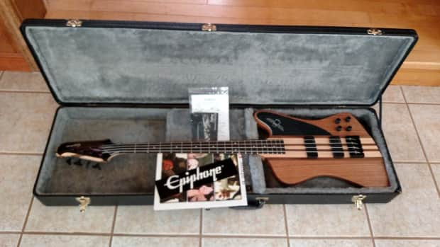 Epiphone Thunderbird Pro Iv Bass Natural Oil Made In Indonesia