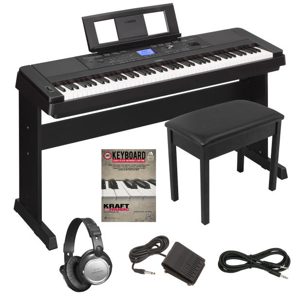 yamaha dgx 660 portable grand digital piano key essentials bundle reverb. Black Bedroom Furniture Sets. Home Design Ideas
