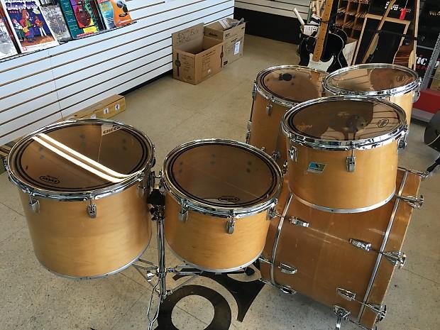 vintage ludwig classic maple 6pc drum set concert toms reverb. Black Bedroom Furniture Sets. Home Design Ideas