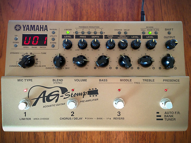 yamaha ag stomp acoustic guitar effects pedal preamp free reverb. Black Bedroom Furniture Sets. Home Design Ideas