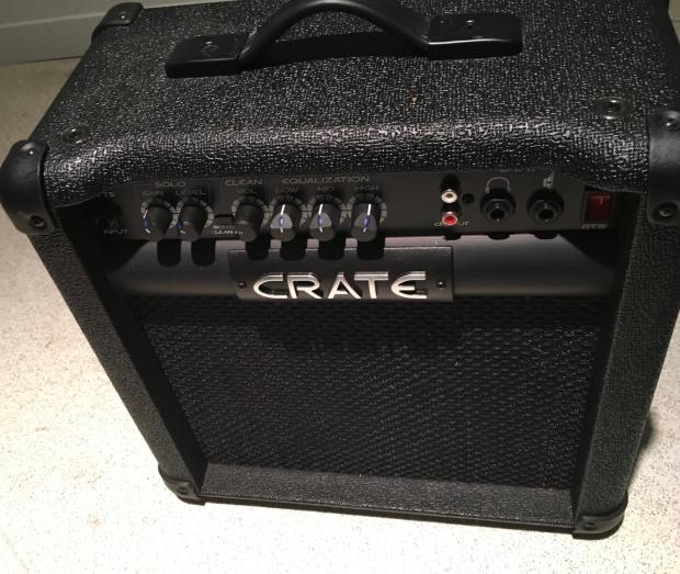 crate gt15 mini amp black reverb. Black Bedroom Furniture Sets. Home Design Ideas