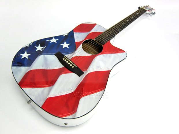 american flag acoustic electric guitar usa 1ce reverb. Black Bedroom Furniture Sets. Home Design Ideas