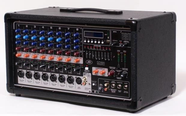 peavey pvi 8500 400w 12 channel powered mixer with 24 bit reverb. Black Bedroom Furniture Sets. Home Design Ideas